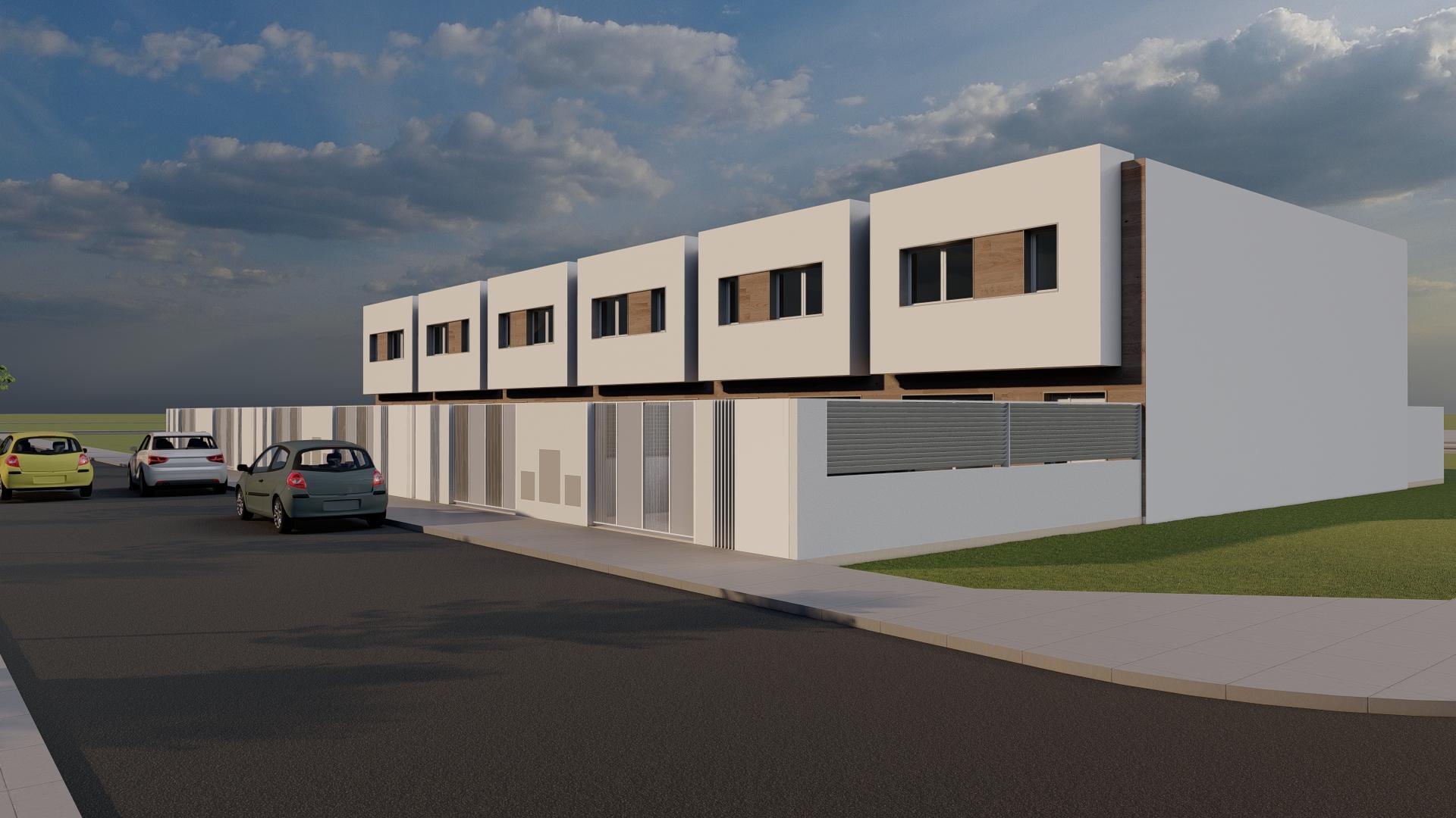 Promoción Unifamiliares adosadas en Novenes de Calatrava en Zona Piscinas (Burriana, Castellón)